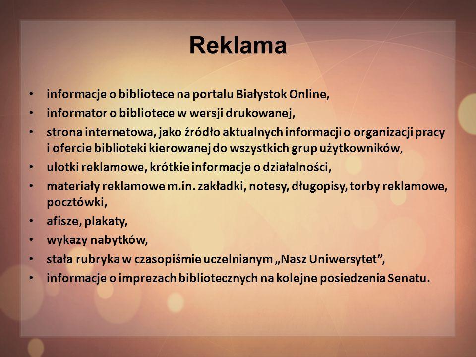 Reklama informacje o bibliotece na portalu Białystok Online,