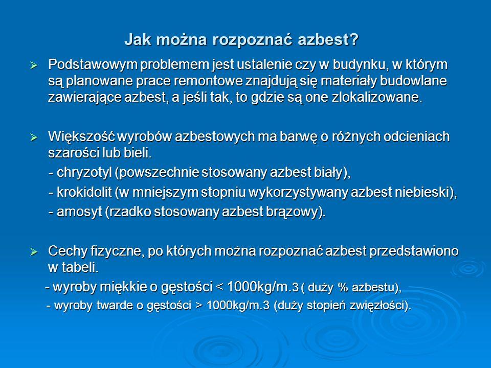 Jak można rozpoznać azbest