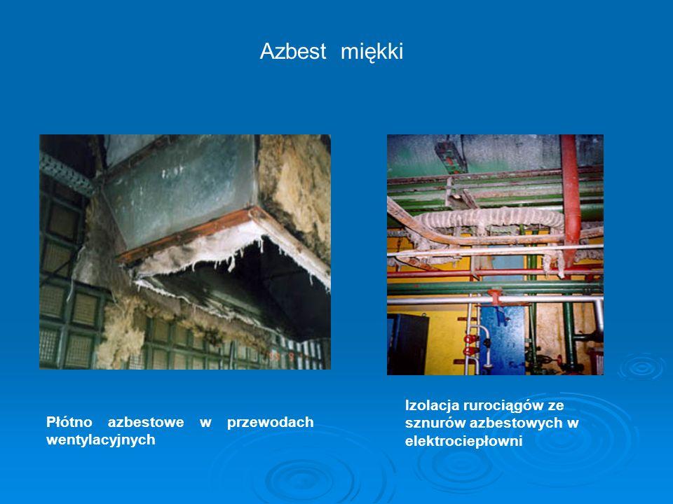 Azbest miękki Izolacja rurociągów ze sznurów azbestowych w elektrociepłowni.