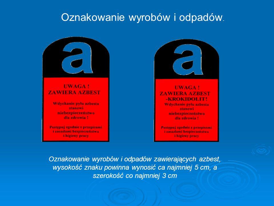 Oznakowanie wyrobów i odpadów.