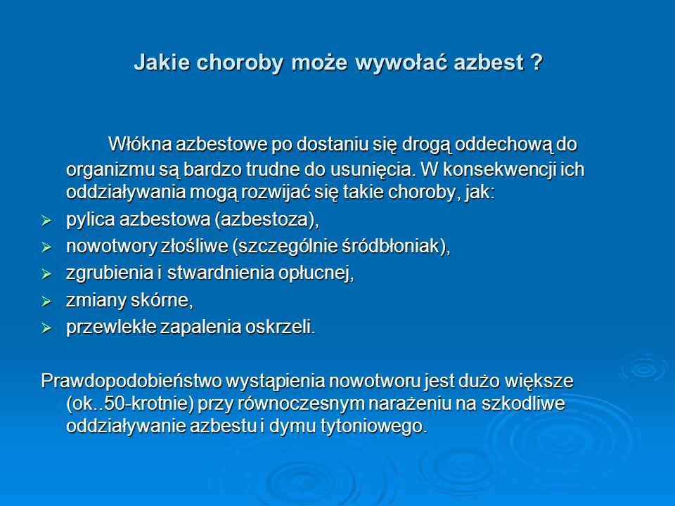 Jakie choroby może wywołać azbest