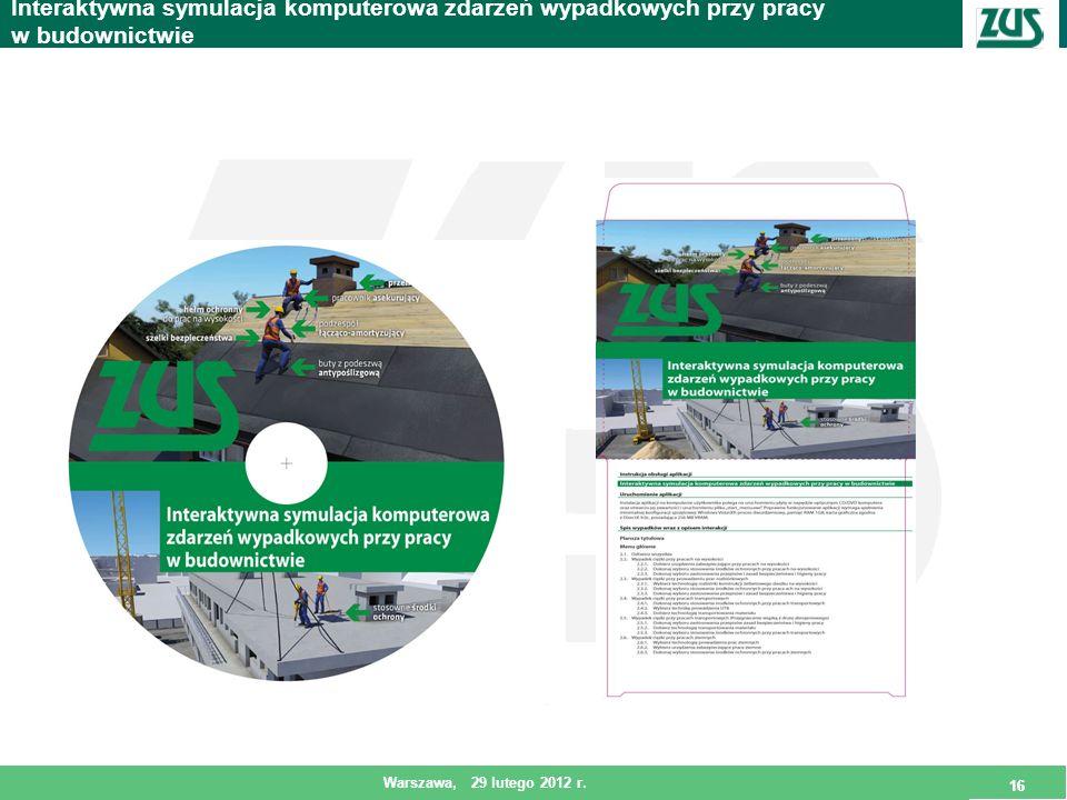 Interaktywna symulacja komputerowa zdarzeń wypadkowych przy pracy w budownictwie