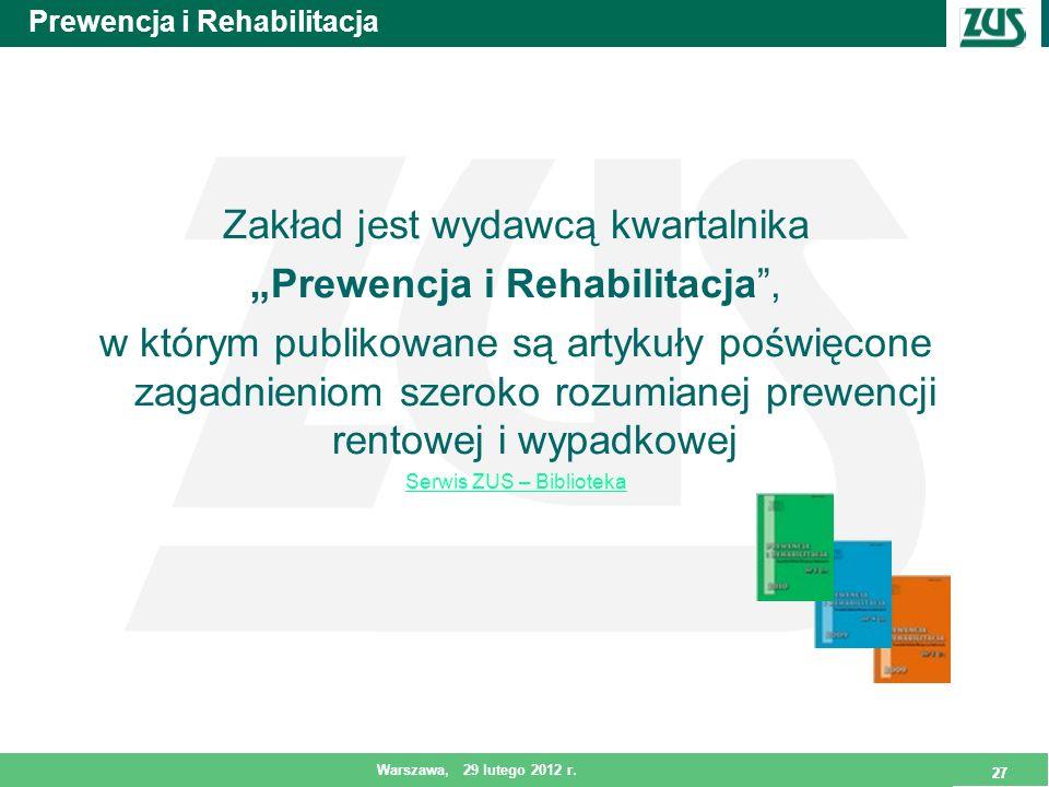 Prewencja i Rehabilitacja