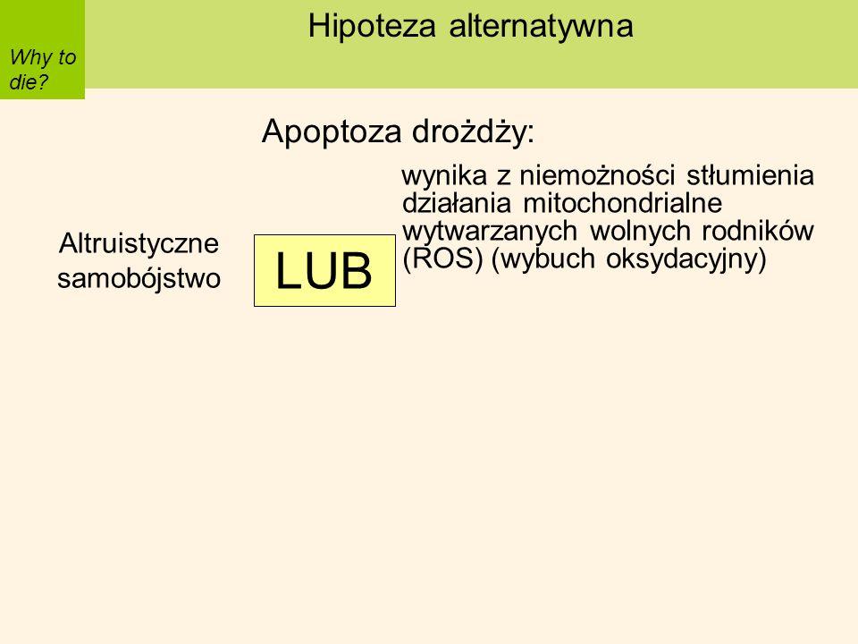 LUB Hipoteza alternatywna Apoptoza drożdży: