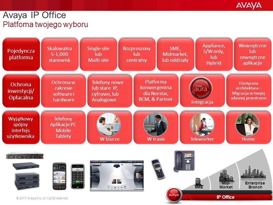 Avaya IP Office Platfoma twojego wyboru 20 Pojedyncza platforma