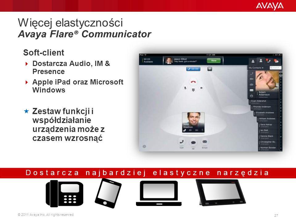 Więcej elastyczności Avaya Flare® Communicator