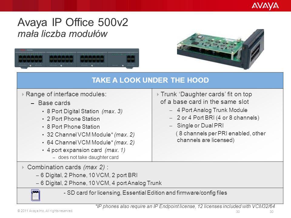Avaya IP Office 500v2 mała liczba modułów