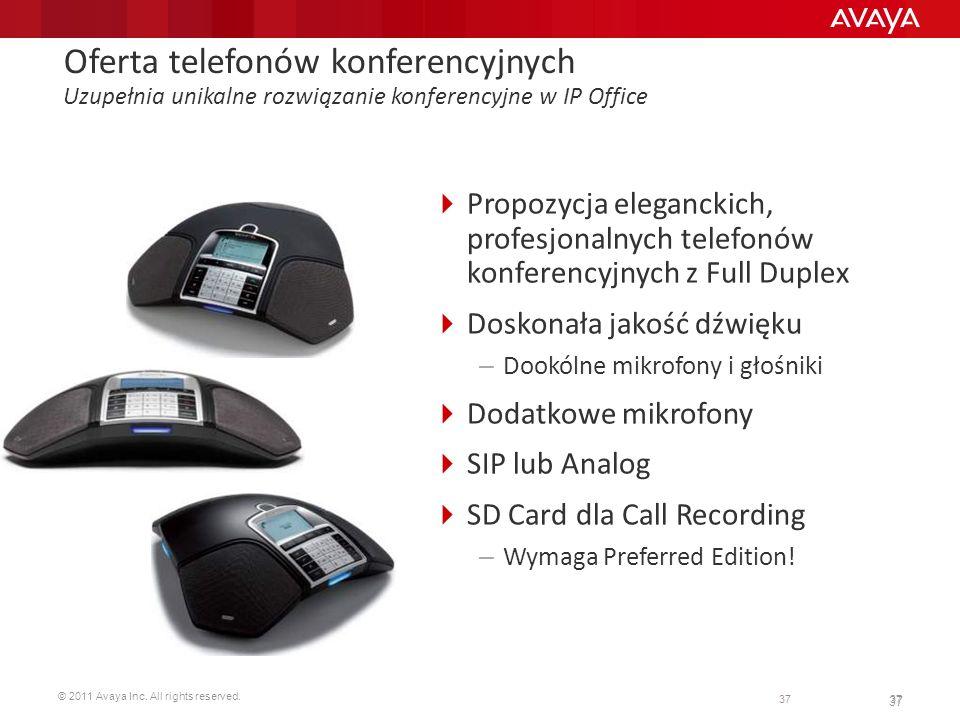 Oferta telefonów konferencyjnych Uzupełnia unikalne rozwiązanie konferencyjne w IP Office
