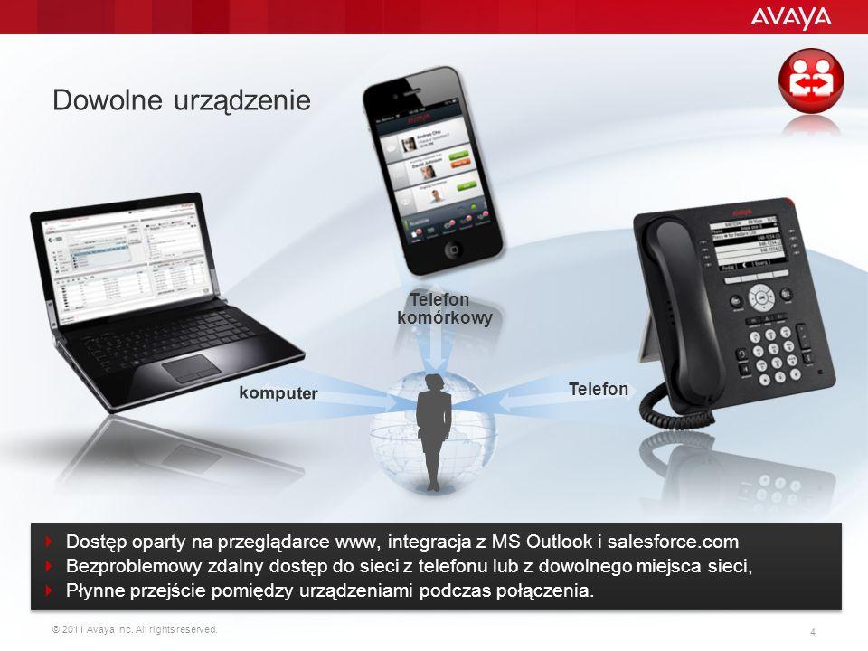 Dowolne urządzenie Telefon komórkowy.