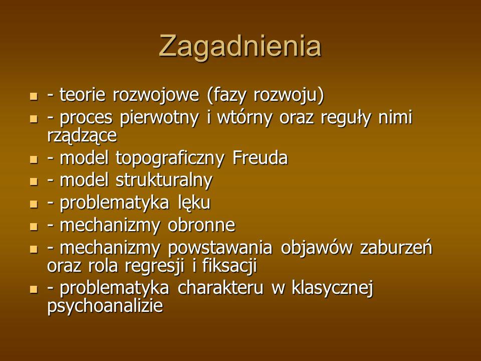Zagadnienia - teorie rozwojowe (fazy rozwoju)