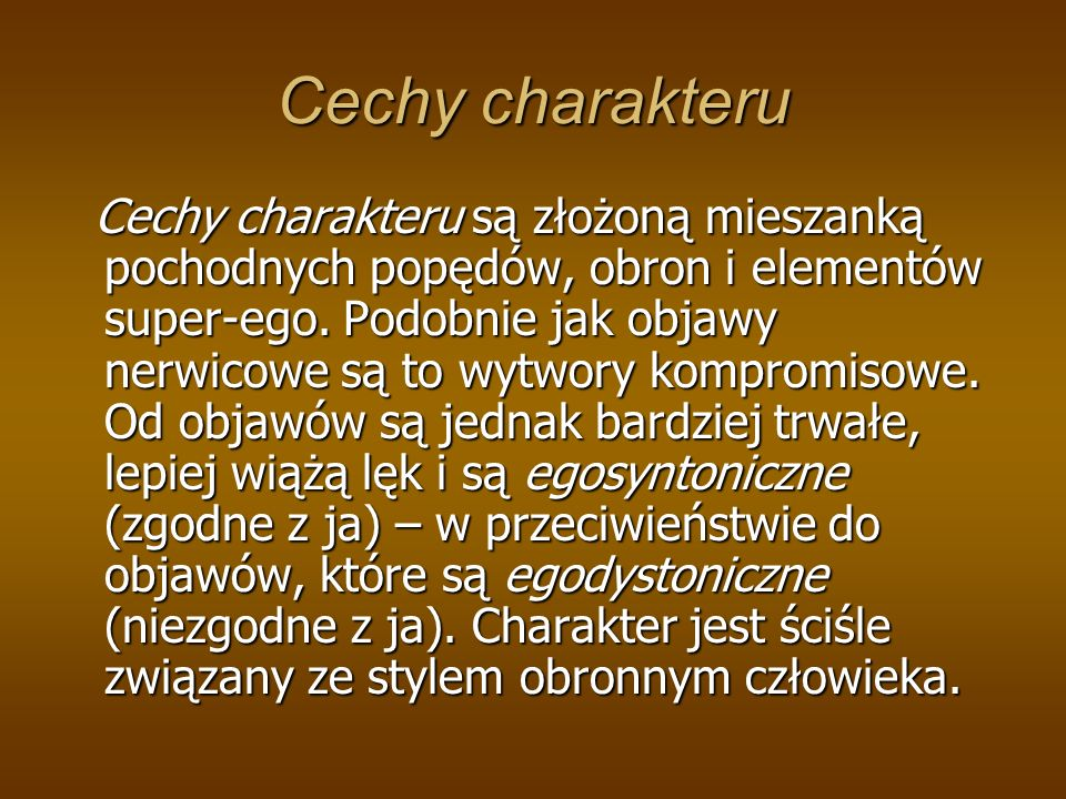 Cechy charakteru