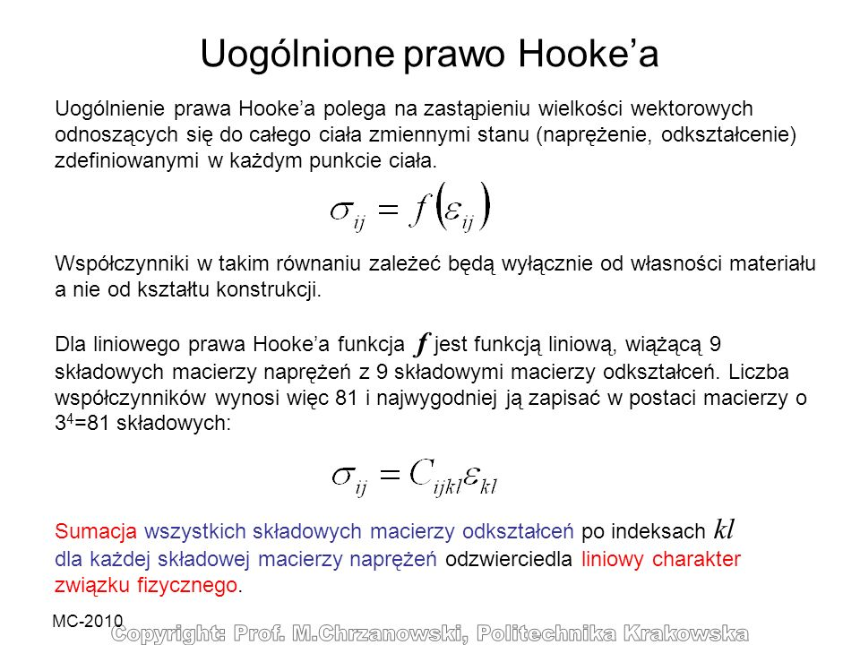 Uogólnione prawo Hooke'a