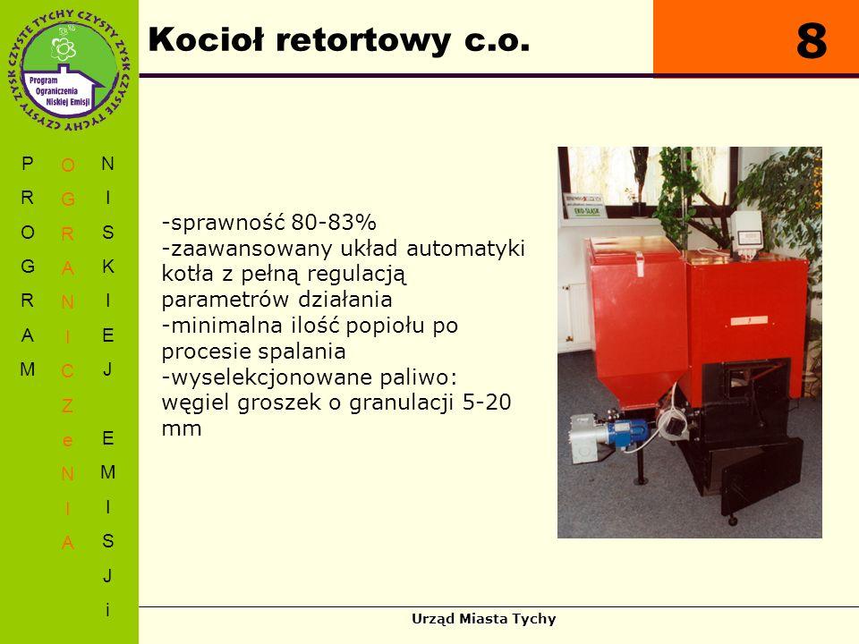 8 Kocioł retortowy c.o. sprawność 80-83%