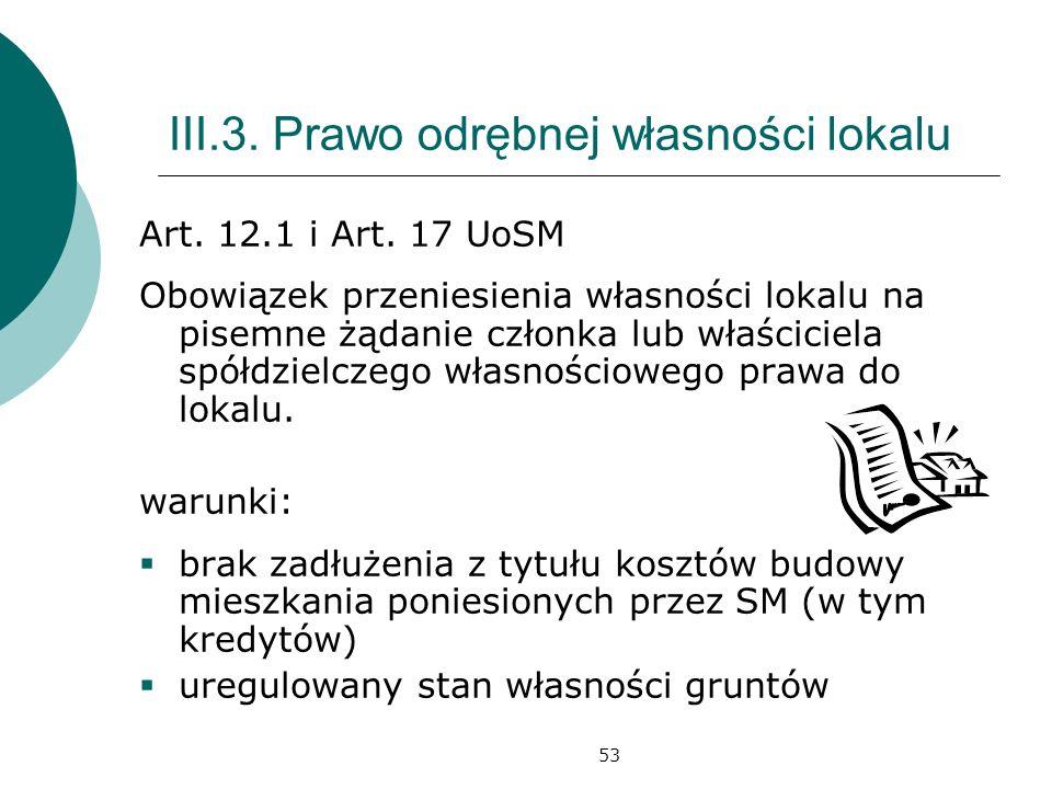III.3. Prawo odrębnej własności lokalu