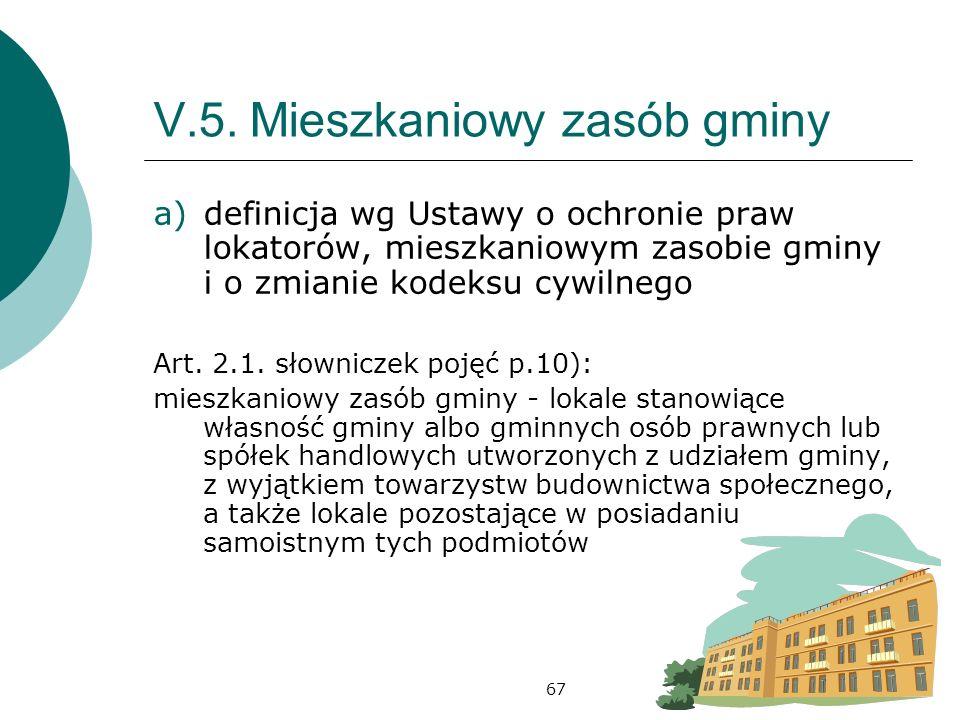 V.5. Mieszkaniowy zasób gminy