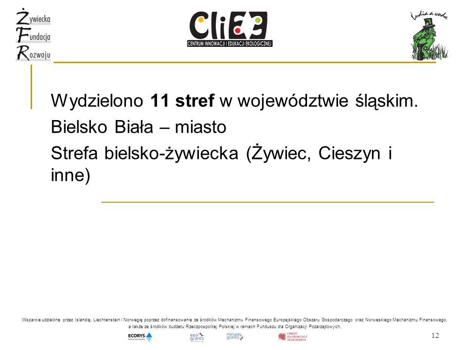 Wydzielono 11 stref w województwie śląskim. Bielsko Biała – miasto