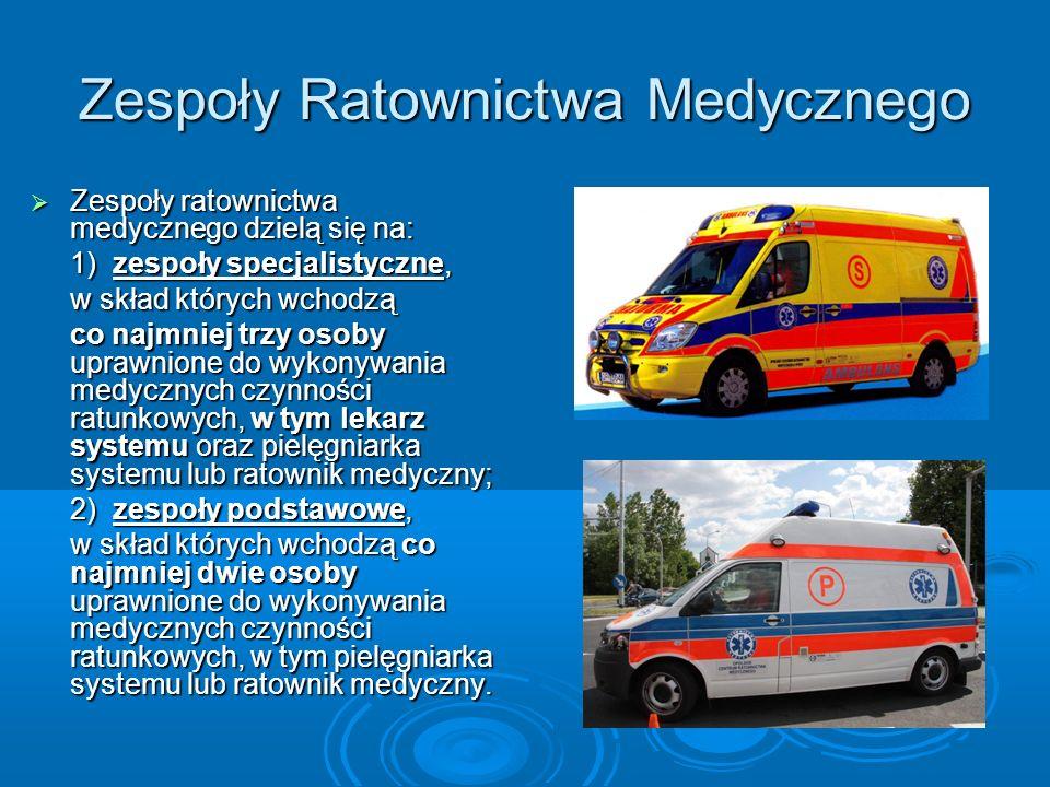 Zespoły Ratownictwa Medycznego