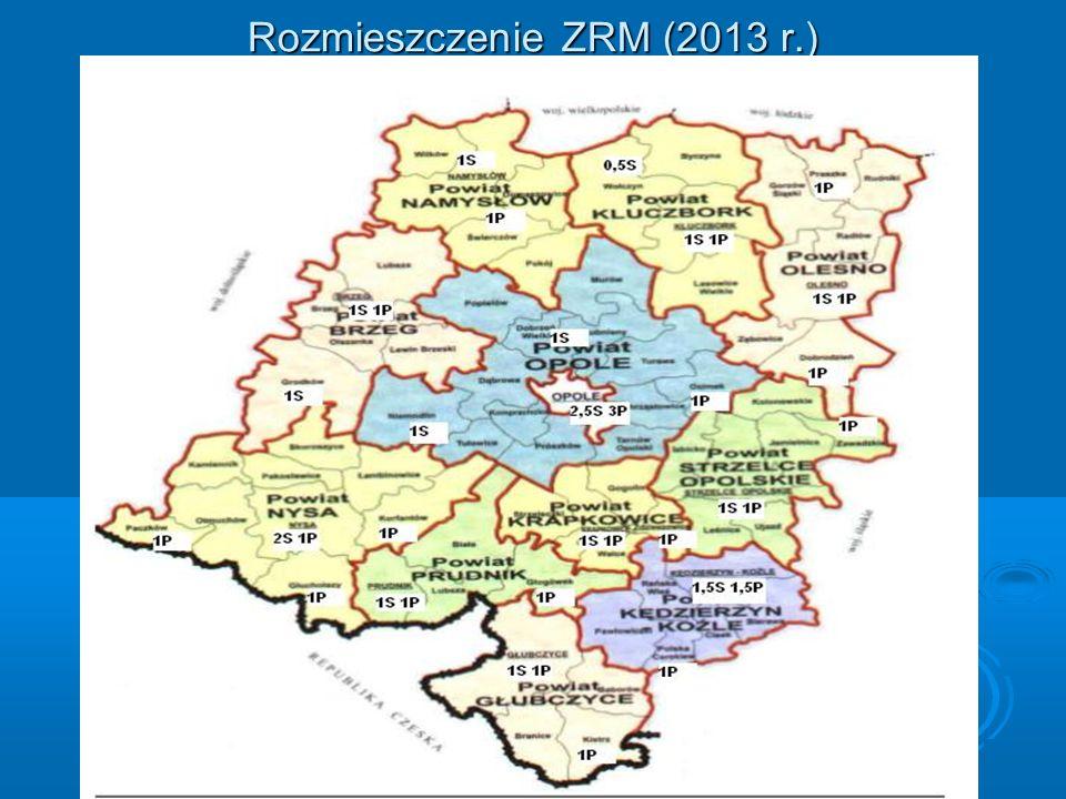 Rozmieszczenie ZRM (2013 r.)