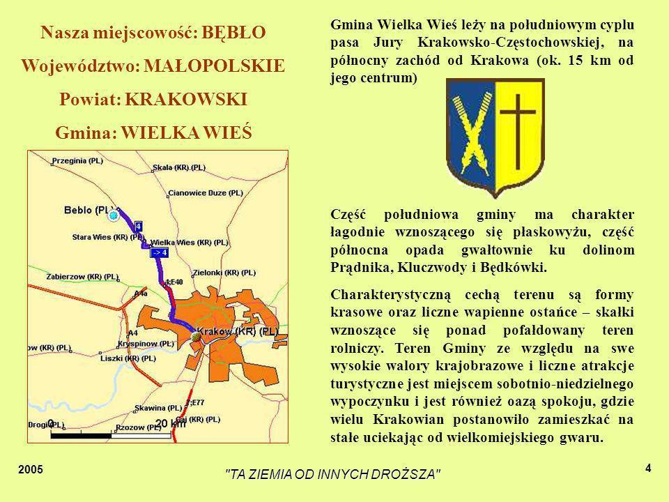 Nasza miejscowość: BĘBŁO Województwo: MAŁOPOLSKIE