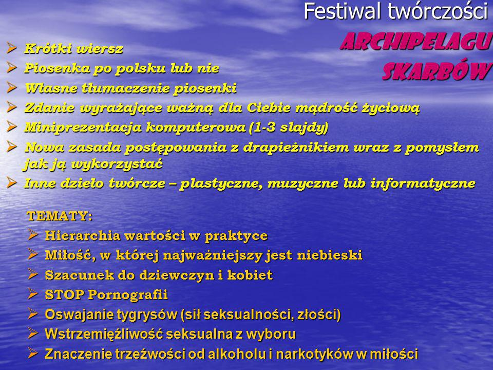 Festiwal twórczości Archipelagu Skarbów
