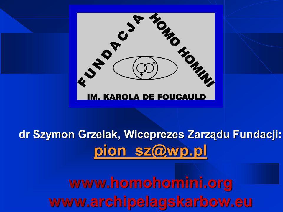 dr Szymon Grzelak, Wiceprezes Zarządu Fundacji: