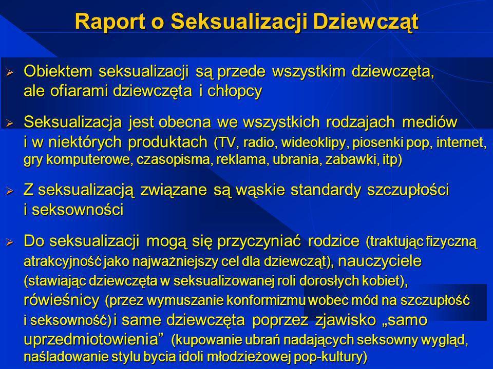 Raport o Seksualizacji Dziewcząt