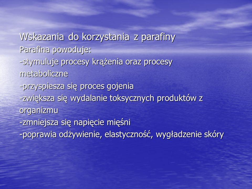 Wskazania do korzystania z parafiny