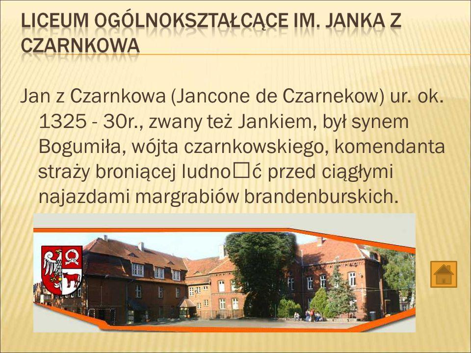 Jan z Czarnkowa (Jancone de Czarnekow) ur. ok. 1325 - 30r