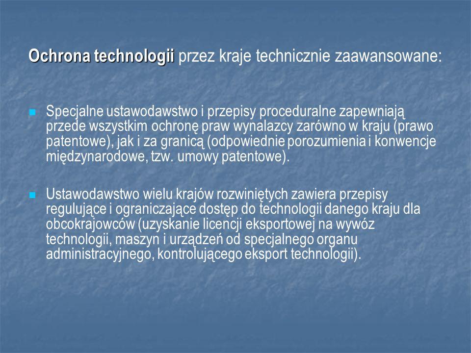 Ochrona technologii przez kraje technicznie zaawansowane: