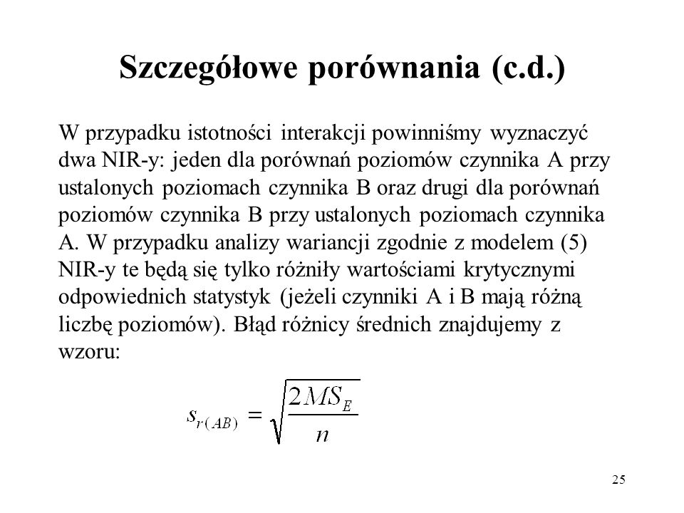 Szczegółowe porównania (c.d.)