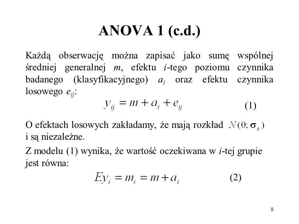 ANOVA 1 (c.d.)