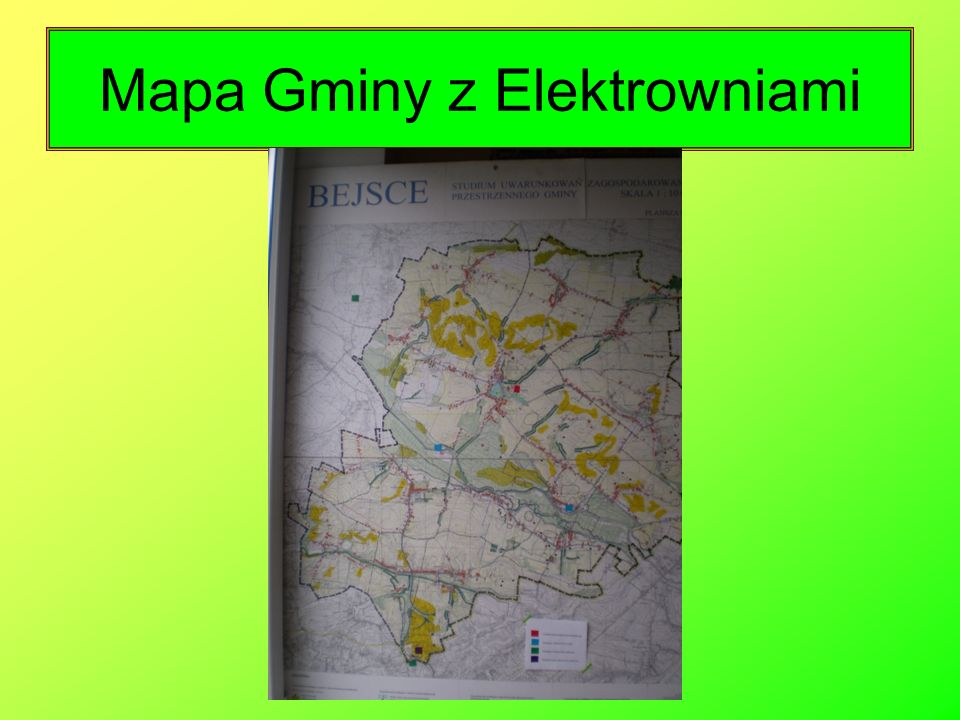 Mapa Gminy z Elektrowniami