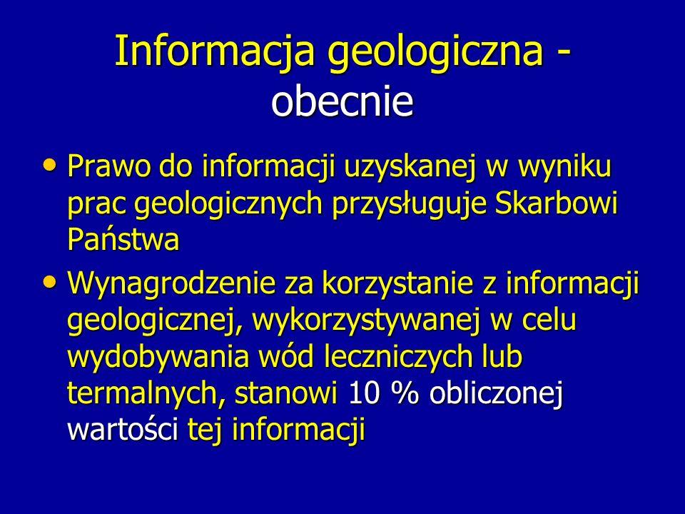 Informacja geologiczna - obecnie