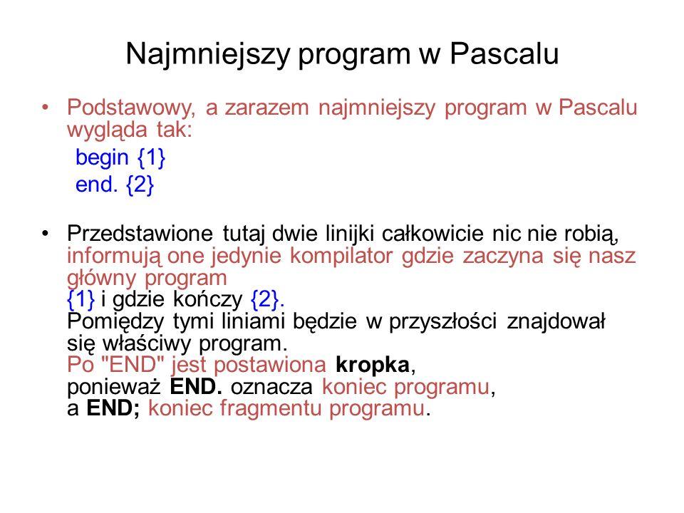 Najmniejszy program w Pascalu