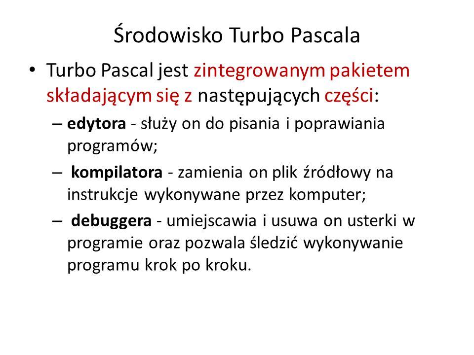 Środowisko Turbo Pascala