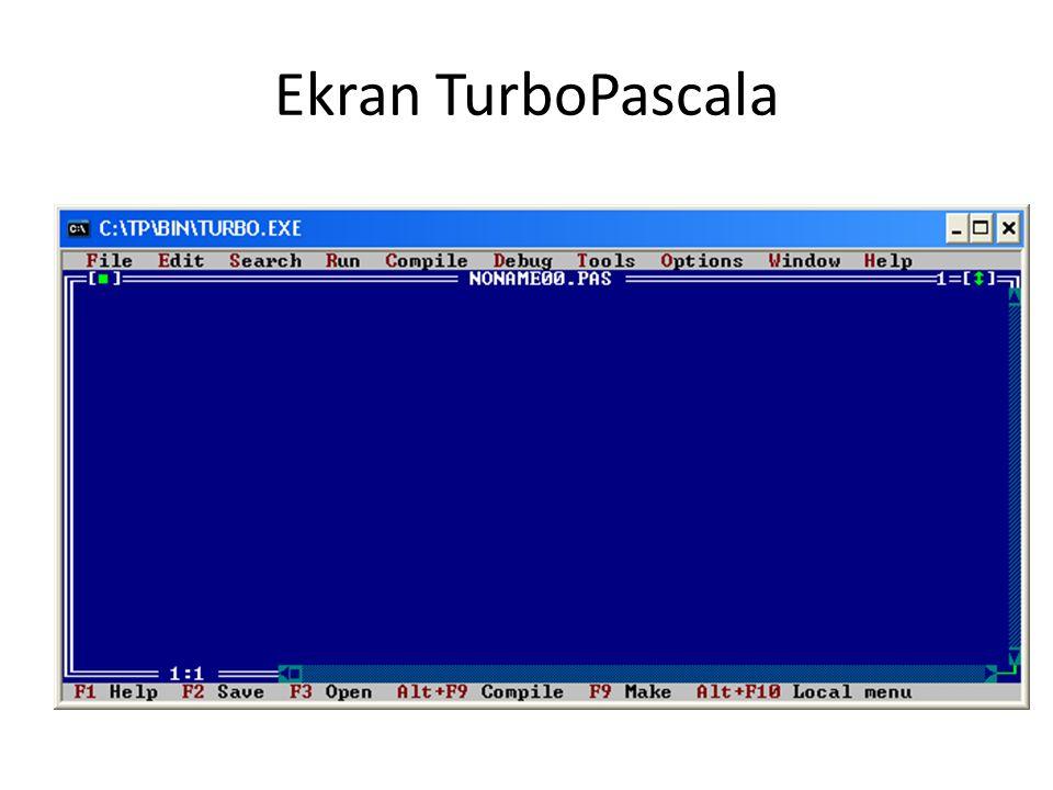 Ekran TurboPascala