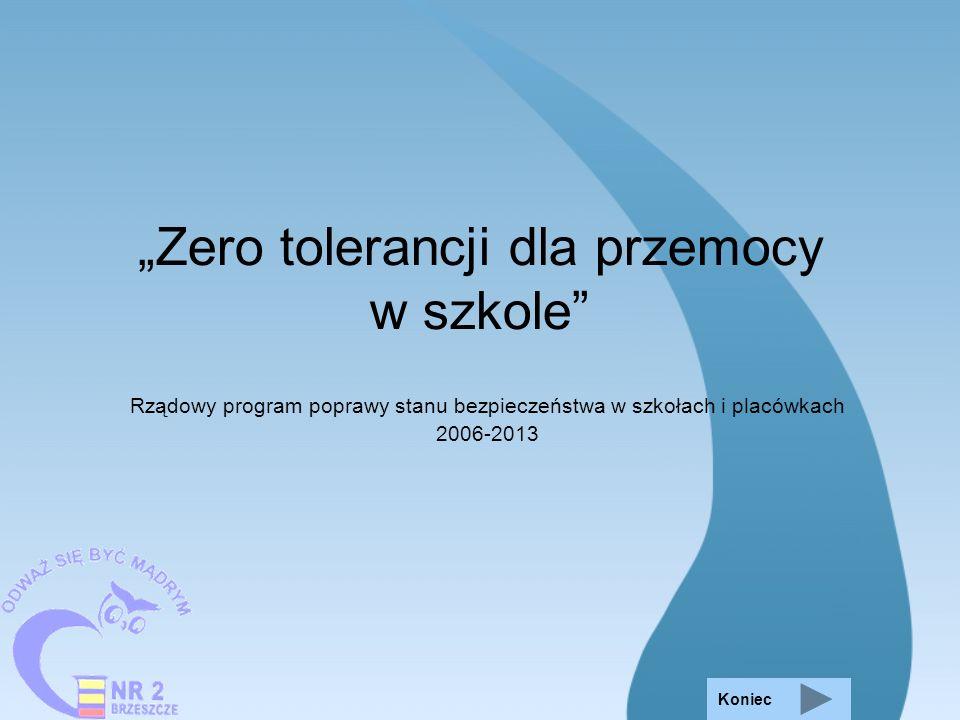 """""""Zero tolerancji dla przemocy w szkole"""