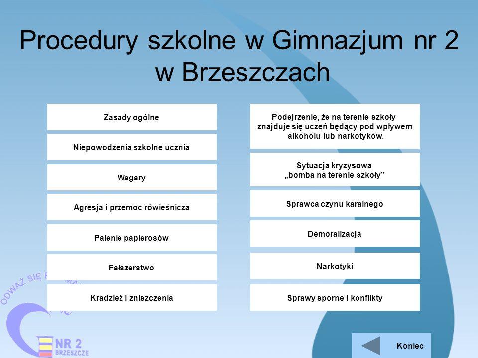 Procedury szkolne w Gimnazjum nr 2 w Brzeszczach