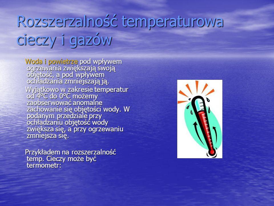 Rozszerzalność temperaturowa cieczy i gazów