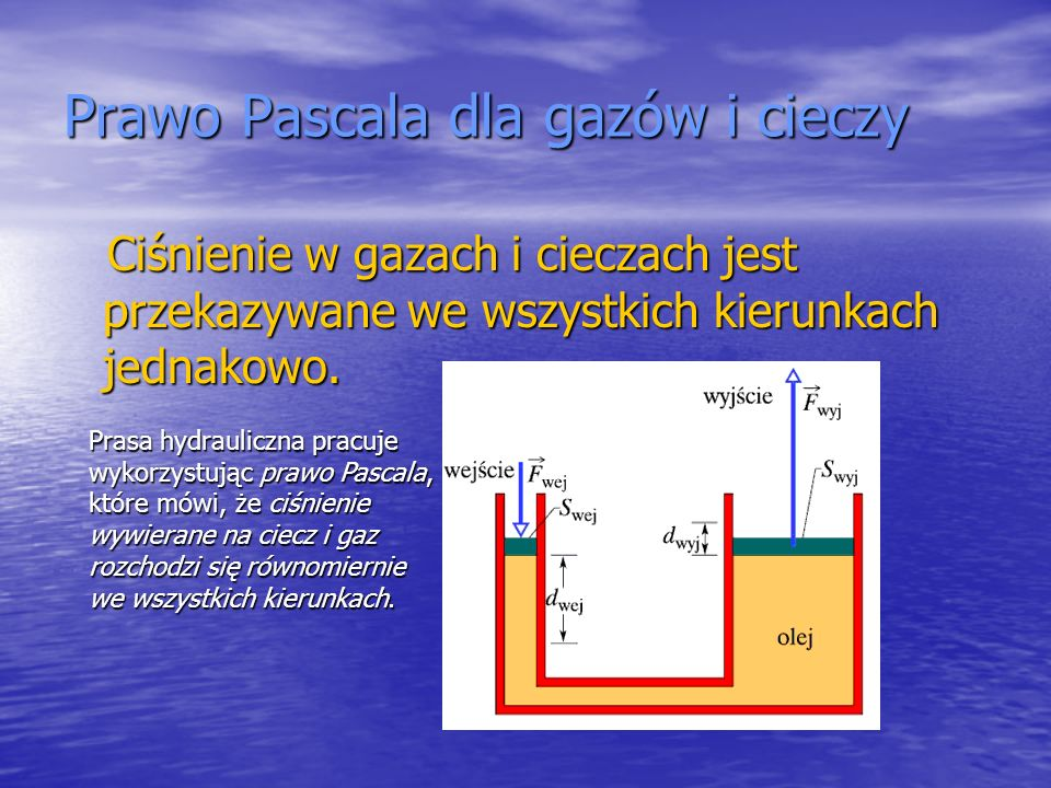 Prawo Pascala dla gazów i cieczy