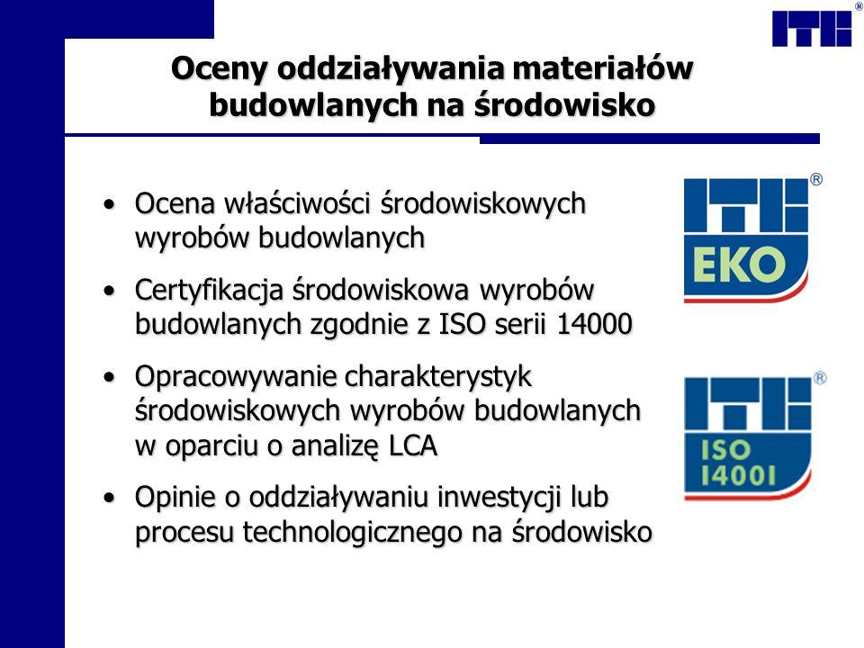 Oceny oddziaływania materiałów budowlanych na środowisko