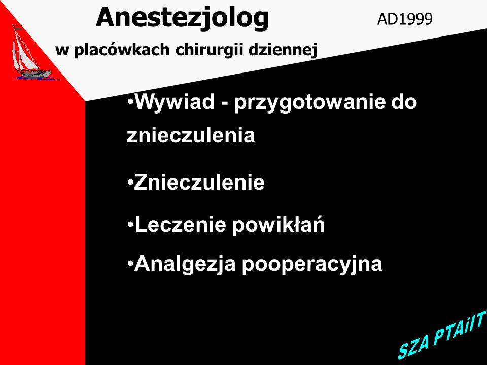 Anestezjolog w placówkach chirurgii dziennej