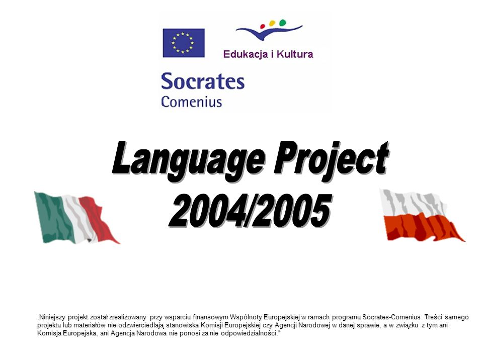 Language Project 2004/2005.