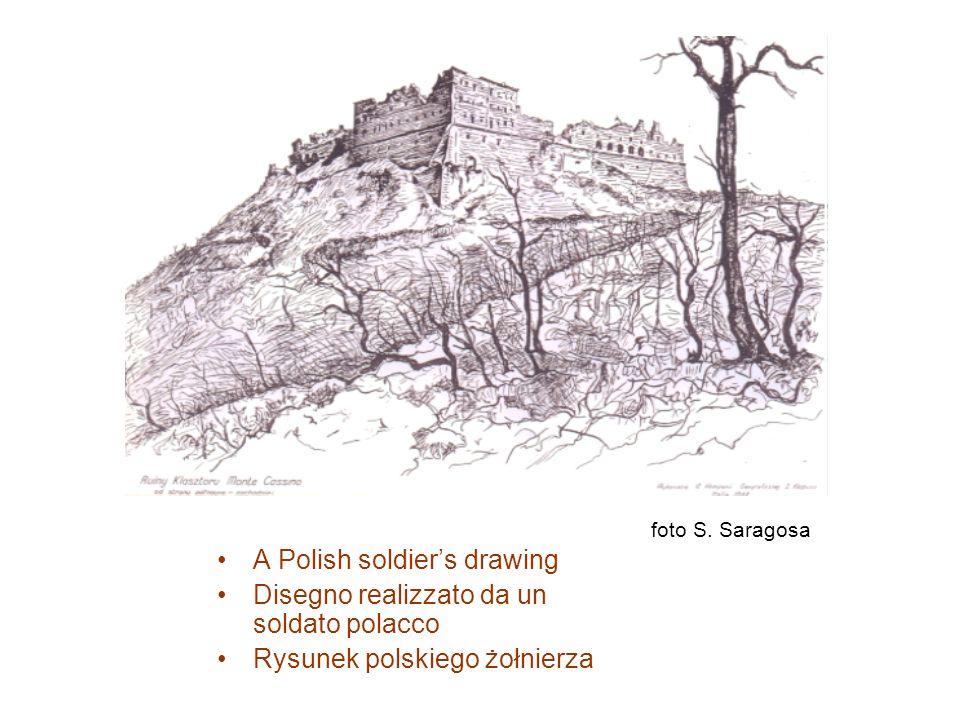 A Polish soldier's drawing Disegno realizzato da un soldato polacco