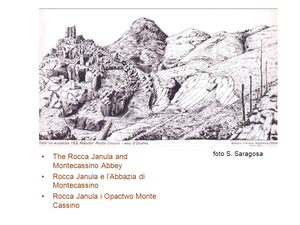 The Rocca Janula and Montecassino Abbey