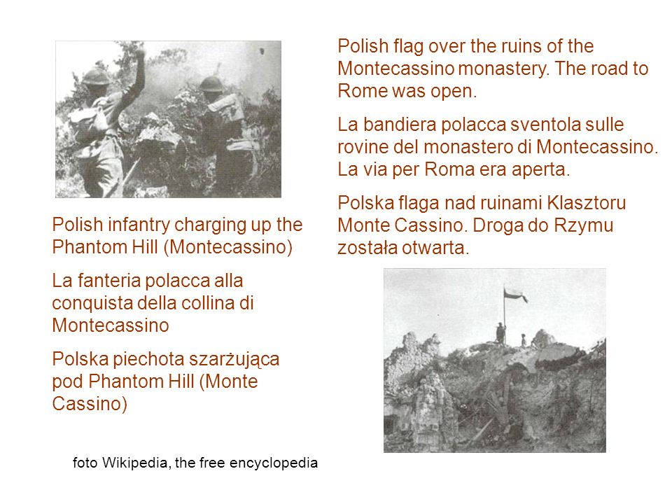 Polish infantry charging up the Phantom Hill (Montecassino)