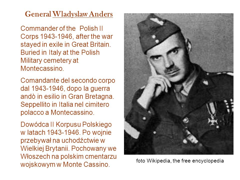 General Wladyslaw Anders