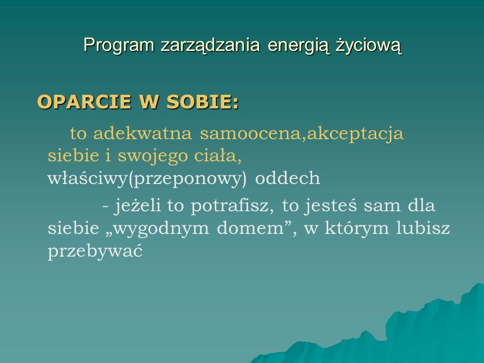 Program zarządzania energią życiową