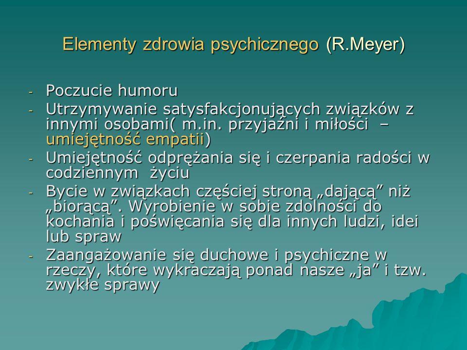 Elementy zdrowia psychicznego (R.Meyer)
