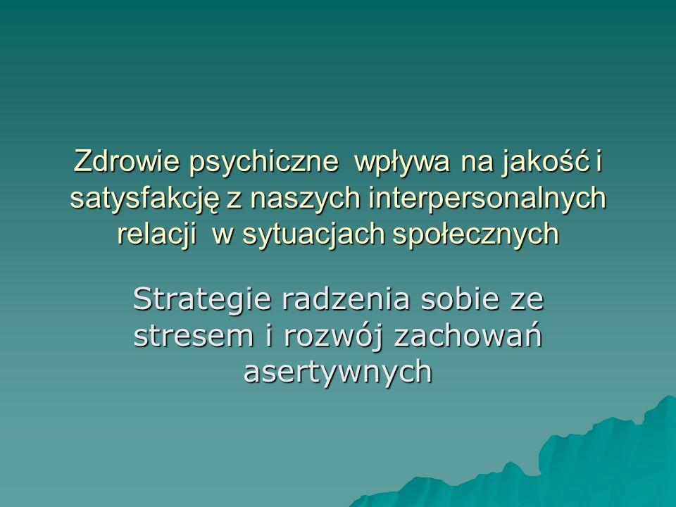 Strategie radzenia sobie ze stresem i rozwój zachowań asertywnych